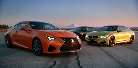 Lexus dice que el RC F es más rápido que los BMW M4 Coupé y Audi RS 5