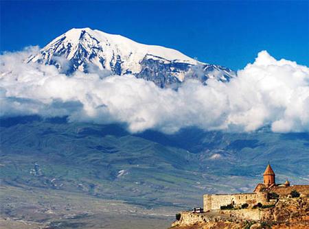 Monte Ararat visto desde Armenia
