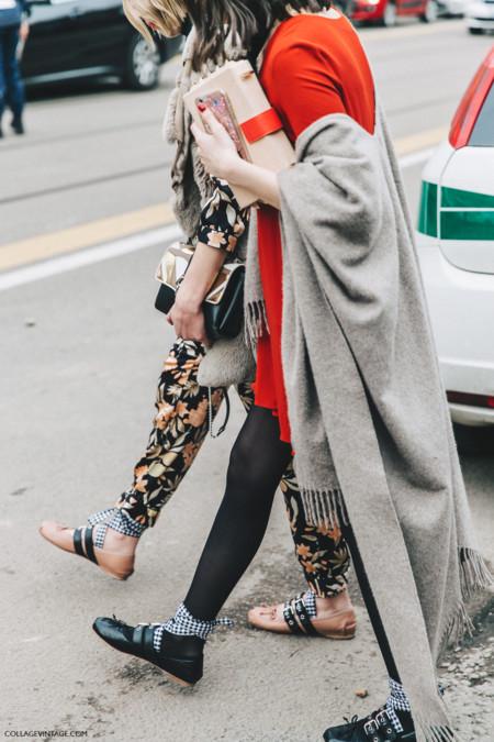 Ballerina 'Punk' de Miu Miu. El calzado viral de las Semanas de la Moda