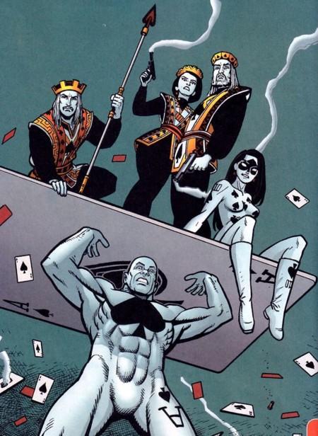Mona y su grupo dentro de los Royal Flush Gang