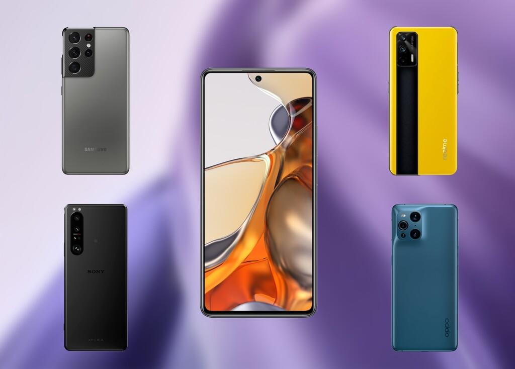 Comparativa Xiaomi 11T y 11T Pro: enfrentamos los nuevos Xiaomi contra los Samsung Galaxy S21 Ultra, Realme GT, OnePlus 9 Pro y el resto de gama alta