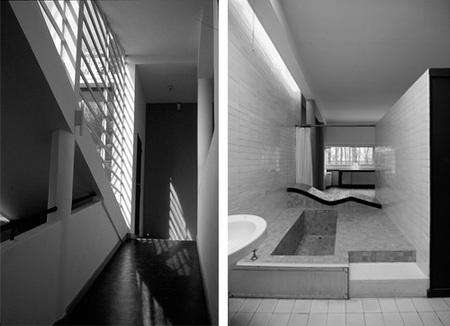 villa Savoye - escalera y baño