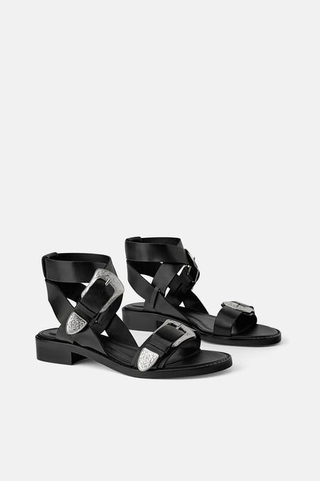 Sandalia Plana Zara 2019 02
