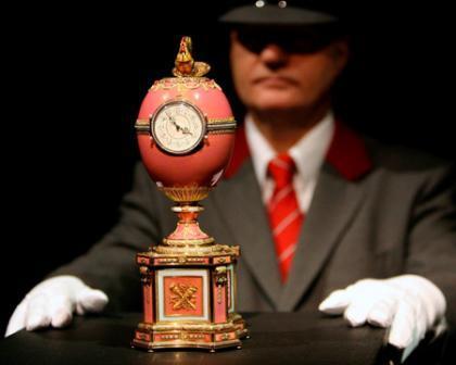 Huevo reliquia de Fabergé a subasta