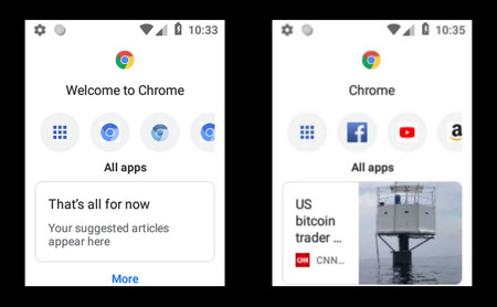 Android Oreo Chrome Touchless