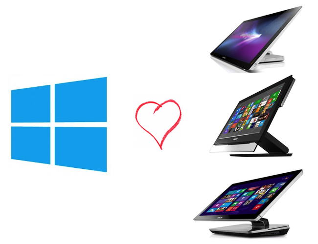 Ordenadores sobremesa con windows 8