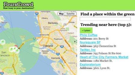 FoursCrowd te enseña dónde hay aglomeraciones de gente para evitarlas, o para acudir