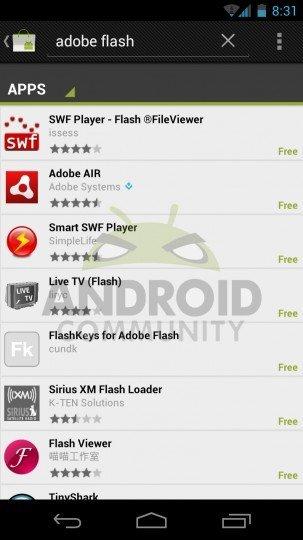 Galaxy Nexus no lleva instalado Flash ni tampoco se puede descargar del Market por ahora