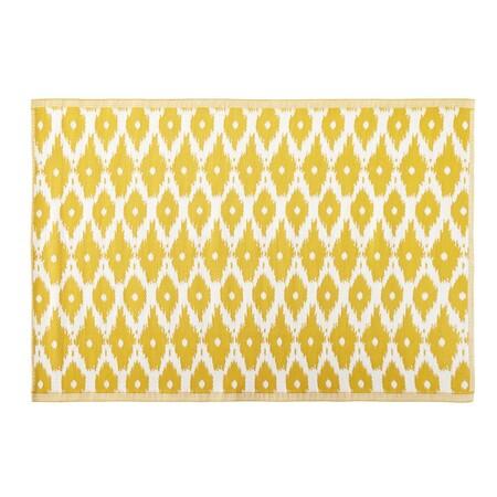Alfombra De Exterior Amarilla Con Motivos Decorativos Blancos 140x200 1000 2 5 188974 1