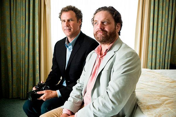 Will Ferrell y Zach Galifianakis fotografiados durante la promoción de su última película