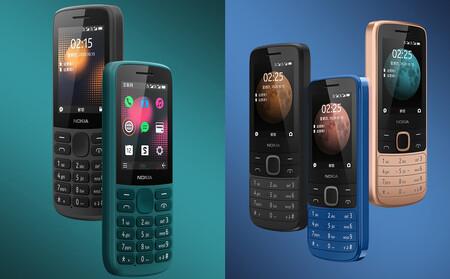 Nokia 215 4G y Nokia 225 4G: nuevos teléfonos básicos con soporte VoLTE, teclado y pantalla de 2,4 pulgadas