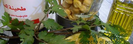Ingredientes para elaborar el hummus