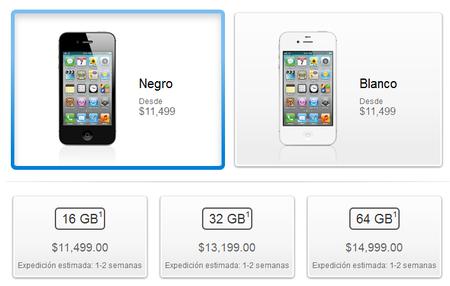 precio de iphone 4s 16gb
