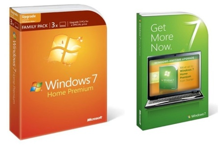 Family Pack y Anytime Upgrade para Windows 7 oficialmente anunciados