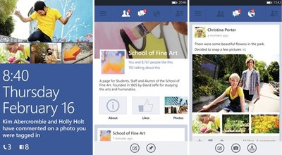 Facebook libera una beta de su aplicación para Windows Phone