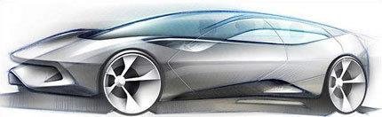 Primer boceto del Pininfarina Sintesi Concept