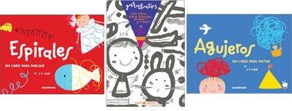 Espirales, Garabatos y Agujeros: libros para pintar