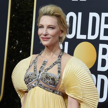 Cate Blanchett luce un peculiar y poco favorecedor vestido mariposa en los Globos de Oro 2020