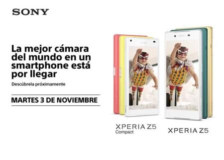 Sony tendrá una presentación el 3 de noviembre, los nuevos Xperia Z5 llegan a México