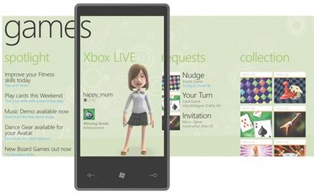 Windows Phone 7 Series, con soporte para Xbox Live