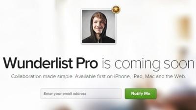 Wunderlist anuncia su versión premium: no la muestra pero da precios