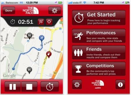 The North Face Tracking, una aplicación para guardar tus rutas de entrenamiento