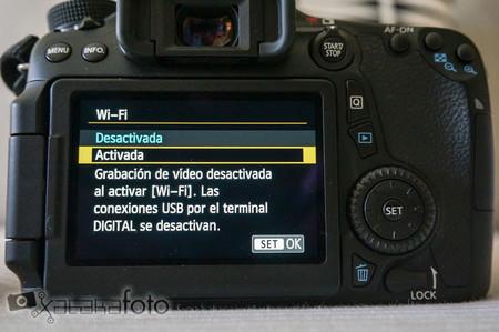 Canon EOS 70D pantalla wifi
