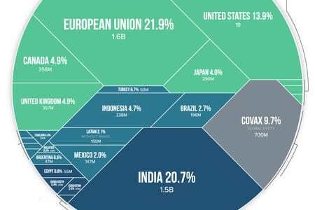 ¿Quién se está quedando con las vacunas contra el covid? Las compras de cada país, en un gráfico