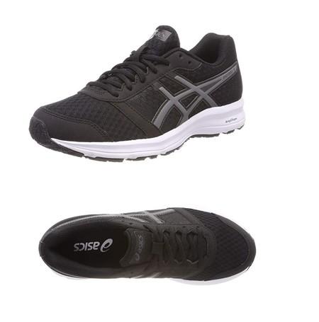 Por 34,95 euros tenemos las zapatillas deportivas Asics Patriot 9 en color negro en varias tallas en Amazon