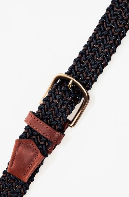 cinturón trenzado massimo dutti