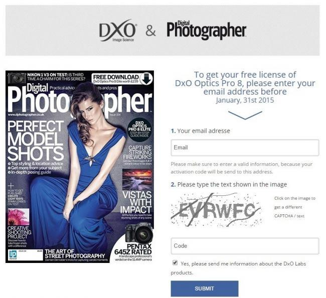 DxO Optics Pro 8 gratis hasta el 31 de Enero
