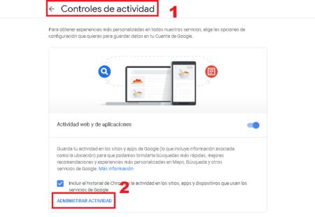 Google Borrar Informacion Automaticamente