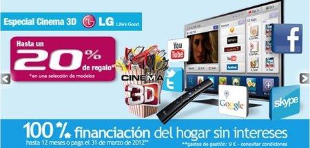 20% en Cine 3D en El Corte Inglés