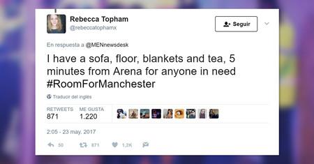 #RoomForManchester: así se han volcado los habitantes de Manchester tras el atentado en el Arena