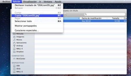 Cómo realizar las acciones de cortar y pegar en OS X