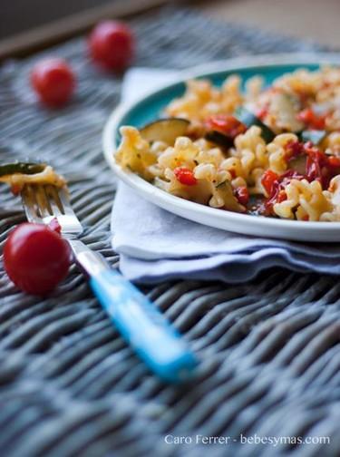 Receta de verano: pasta con hortalizas y albahaca