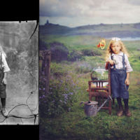 Transformando viejas fotografías en alucinantes obras de fantasía surrealista