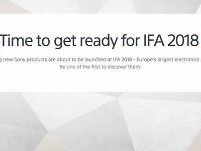 Sony en IFA 2018: presentación oficial en directo