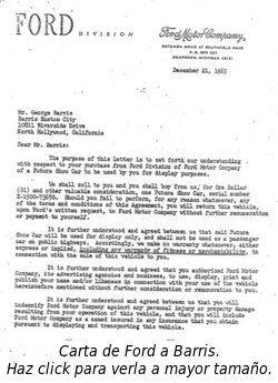 Carta de Ford a Barris