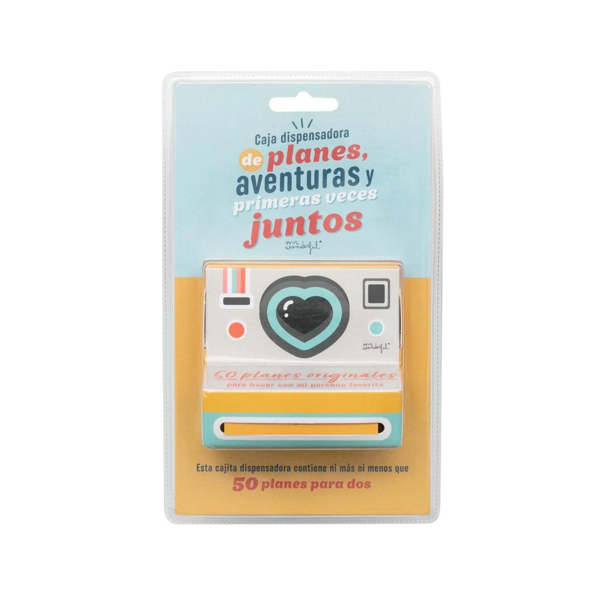 Caja Dispensadora de Planes, Aventuras y Primeras Veces Juntos, Todos ellos con Mensaje Mr. Wonderful