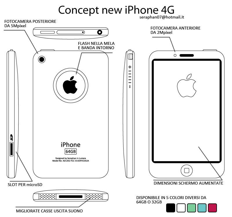 Foto de Apple iPhone 4G, interesante y colorido concepto (1/11)
