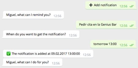 Recordatorios Telegram