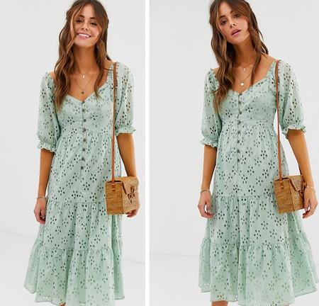 Vestido Verde Pastel