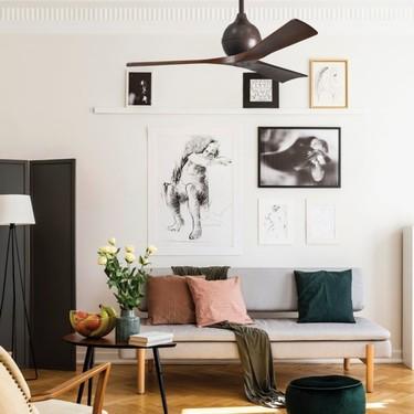 La guía definitiva para que comprar un ventilador no arruine la decoración de tu casa y 19 opciones de diseño