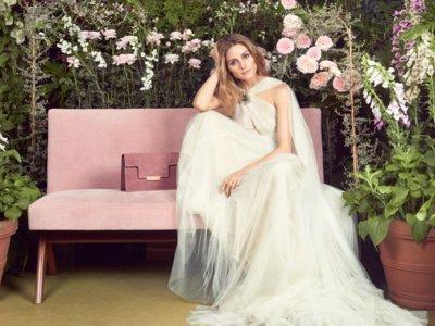 Olivia Palermo se viste (casi) de novia para una firma de accesorios, lo que mejor sabe lucir