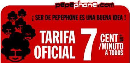 Pepephone rebaja su tarifa única a 7 céntimos/minuto a todos los clientes