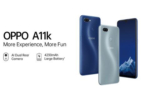 OPPO A11k: un nuevo gama de entrada barato con cámara doble y batería de 4.230 mAh
