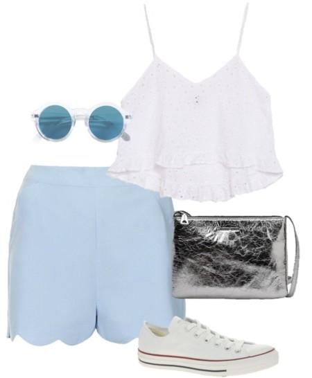 outfit festival azul cielo