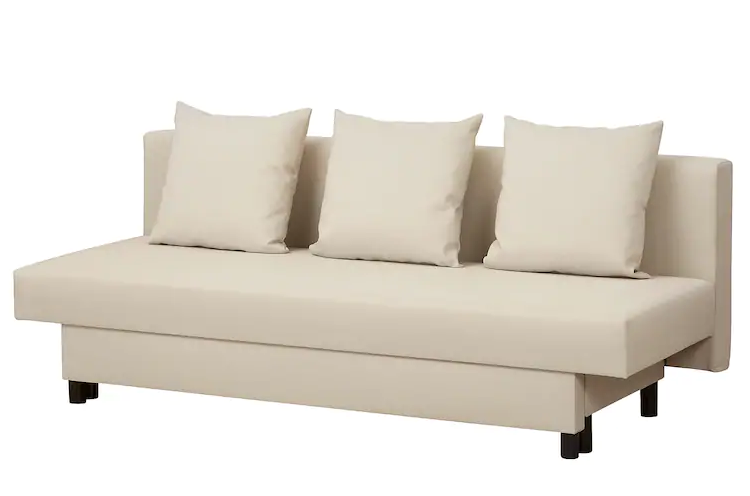 ASARUM. Sofá cama 3 plazas, beige