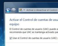 Desactivar Control de Cuentas de Usuario UAC